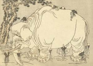 blindmen-elephant-hokusai